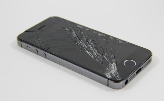 iPhone with broken screen